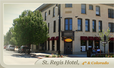 We're located in the St. Regis Hotel in Downtown Grand Junction, CO